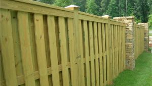 Privacy Fence Ideas On A Slope Shadow Box Fence with Trimmed top I Am Completely In Love with This