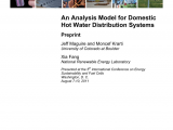Pros and Cons Of Hot Water Recirculating Pump Pdf Analysis Model for Domestic Hot Water Distribution Systems