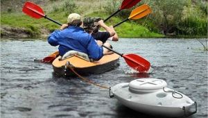 Pull Behind Kayak Cooler Ice Ahoy tow Behind Cooler Follows Your Boat
