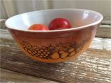 Pyrex Mixing Bowl Patterns Vintage Pyrex Old orchard Pattern Mixing Bowl 2 5 Qt