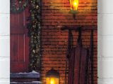 Radiance Flickering Light Canvas Christmas Door Canvas Flickering Light Canvas Christmas Door