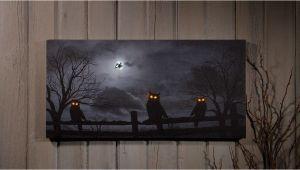 Radiance Flickering Light Canvas Halloween Owl O Ween Night Radiance Lighted Canvas Halloween X46568