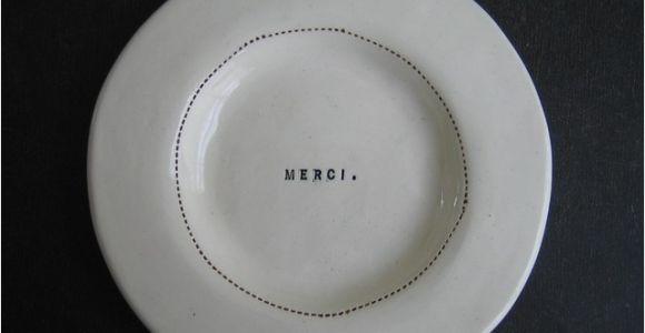 Rae Dunn Ll Dinner Plates Wide Rim Wafer Plate Merci by Rae Dunn Modern Dinner