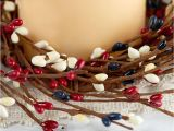 Red White and Blue Pip Berry Candle Rings Americana Pip Berry Candle Ring Pip Berries Primitive