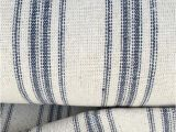 Reproduction Feedsack Fabric by the Yard Grain Sack Fabric sold by the Yard Blue Stripe Vintage