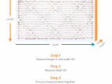 Return Air Filter Grille Sizing Chart Measure Your Air Filter Size Air Filters Delivered