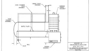 Reverse Flow Offset Smoker Plans 36 X 92 Reverse Flow Smoker Sq Firebox Right W Warming