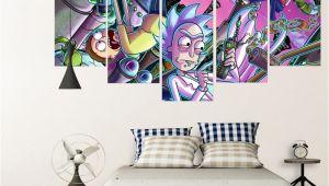 Rick and Morty 5 Piece Canvas Popular Single Panel Cartoons Buy Cheap Single Panel