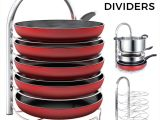 Round as A Dishpan Deep as A Tub but Still Amazon Com Lifewit Adjustable Pan Pot organizer Rack for 8 9 10 11