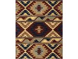 Rustic Texas Star area Rugs Su2253 southwest 5 Feet by 8 Feet area Rug Red by Rizzy Home In