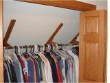 Sloped Ceiling Closet Rod Bracket Incredible Closet Rod Bracket Angled Ceiling Ideas