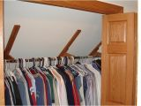 Sloped Ceiling Closet Rod Brackets Incredible Closet Rod Bracket Angled Ceiling Ideas