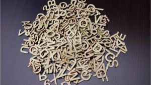 Small Metal Letters for Crafts 250 3cm Plain Wooden Small Letter Digits Adhesive