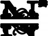 Split Letter Monogram Free Quot N Quot Split Monogram Flockfolie Letters Pinterest