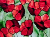 Stained Glass Supplies Denver area Poppies Stained Glass Pattern A C David Kennedy Designs Stained