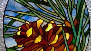 Stained Glass Supplies Denver Co Pine Cone Stained Glass Pattern Stained Glass Pine Cone Window