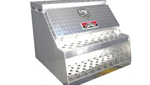Step tool Boxes for Semi Truck 30 Quot Brute Semi Truck Tractor Step Box with tool Box Ebay