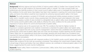 Swedish Employee Self Service Pdf Factors Influencing Patient Safety In Sweden Perceptions Of