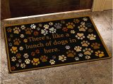 There S Like A Bunch Of Dogs In Here Doormat there 39 S Like A Bunch Of Dogs In Here Funny Design Indoor