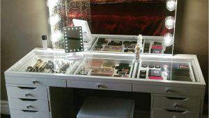 Tocador De Maquillaje Moderno Impressions Vanity with Ikea Alex Drawers Hogar Pinterest