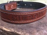 Tooled Leather Dog Collars Leather Dog Collar Hand tooled Personalized with Dog 39 S