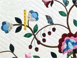 Tree Of Life Quilt Pattern Applique Rose Blue and Green Tree Of Life Applique Quilt Photo 5