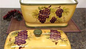Tuscan Wine and Grape Kitchen Decor Kitchen Decor Grape Desing Tuscany Wine Bread Canister Box