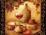 Tuscan Wine and Grape Kitchen Decor Tuscan Wine Grapes I Italian Kitchen theme Decor Square