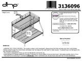Twin Over Full Metal Bunk Bed assembly Instructions Dorel Twin Over Full Metal Bunk Bed Multiple Colors