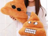 Types Of Pillow Stuffing Emoji Funny Poo Smiley Pillow soft Bolster Cushion Cotton Bedding