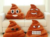 Types Of Pillow Stuffing High Quality Emoji Pillow Cushion Poop Shape Pillow Doll toy Throw
