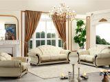 Versace Living Room Set Versace Cleopatra Cream Italian top Grain Leather Beige