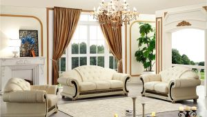 Versace Living Room Set Versace Cleopatra Cream Italian top Grain Leather Beige