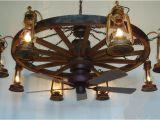 Wagon Wheel Ceiling Fans with Lights Dxww037 60 8 Fan 1 Tier Wooden Wagon Wheel Chandelier W