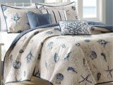 What is the Difference Between A Coverlet and A Quilt Cover Nantucket Coastal Seashell 6 Pc Coverlet Bed Set Everything S Just