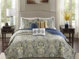 What is the Difference Between A Coverlet and A Quilt Cover Shop Madison Park Madison Teal Charmeuse Printed 6 Piece Coverlet