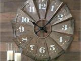 Windmill Clock Hobby Lobby Windmill Wall Clock Large Galvanized Retro Round Clock