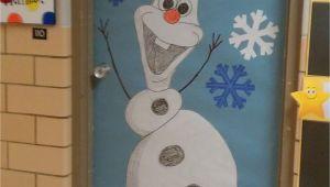 Winter Door Decorating Ideas for School Winter Door Decoration I Love Olaf Kindergarten Pinterest