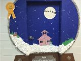 Winter Door Decorations for School Snow Globe Classroom Door Decoration Idea Crafts Pinte