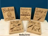 Wooden Kitchen Signs Sayings Set Of Five Kitchen Quotes Funny Kitchen Signs Wood Kitchen