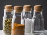 Wooden Lids for Weck Jars Corky Modern Glass Spice Jars
