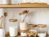 Wooden Lids for Weck Jars Japan Zakka Style Glass Spice Jar Kitchen Canisters Cookie Jars