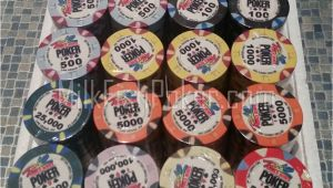 Wsop Clay Poker Chip Sets 500 Wsop Ceramic Poker Chips Ebay