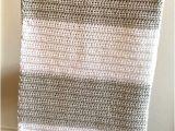 Yarn Bee soft and Sleek Block Stripe Baby Blanket Made by Caitlin